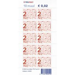 Bijplakzegels € 0,02